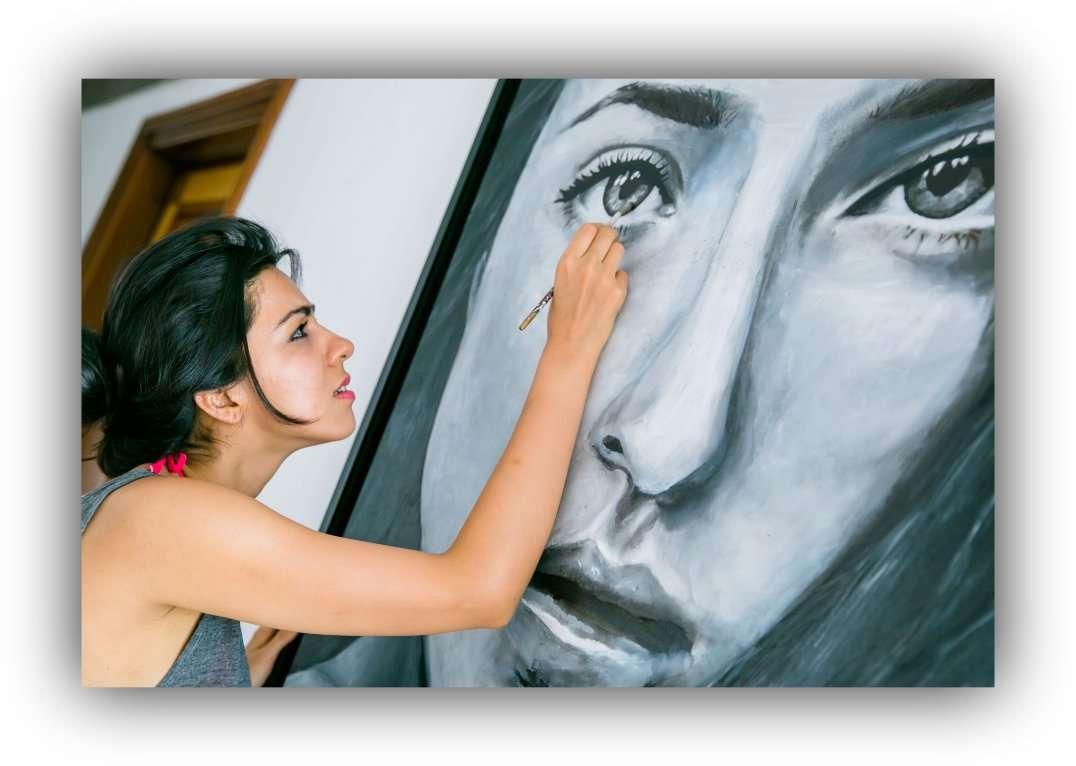 Bahar_Dhawan_Rohtagi_Painting_brush_Art_woman