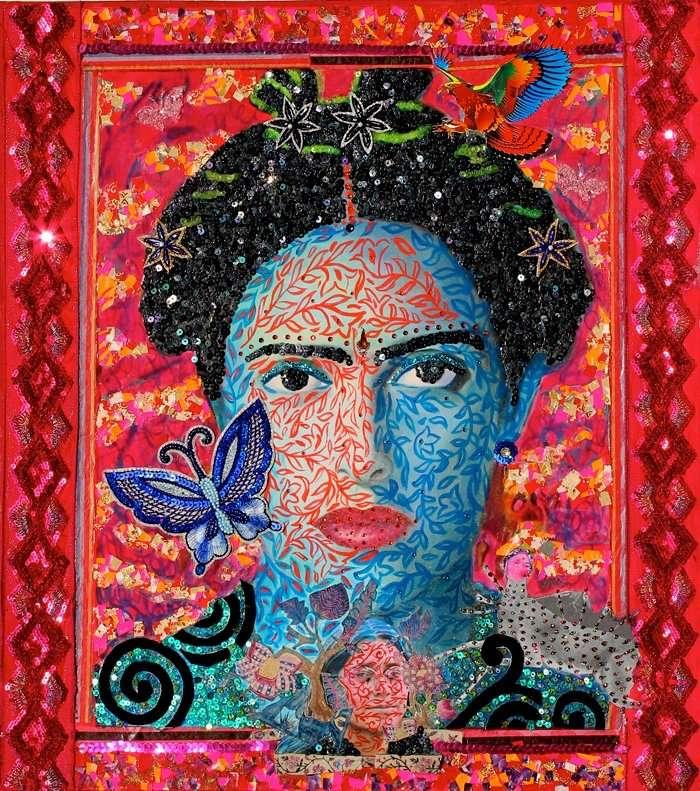 Frida & Me XXV ...17.6 X 19.6 inches.