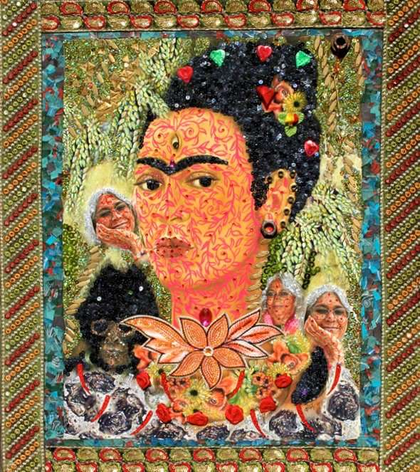 Frida & Me XXX...17.6 X 19.6 inches