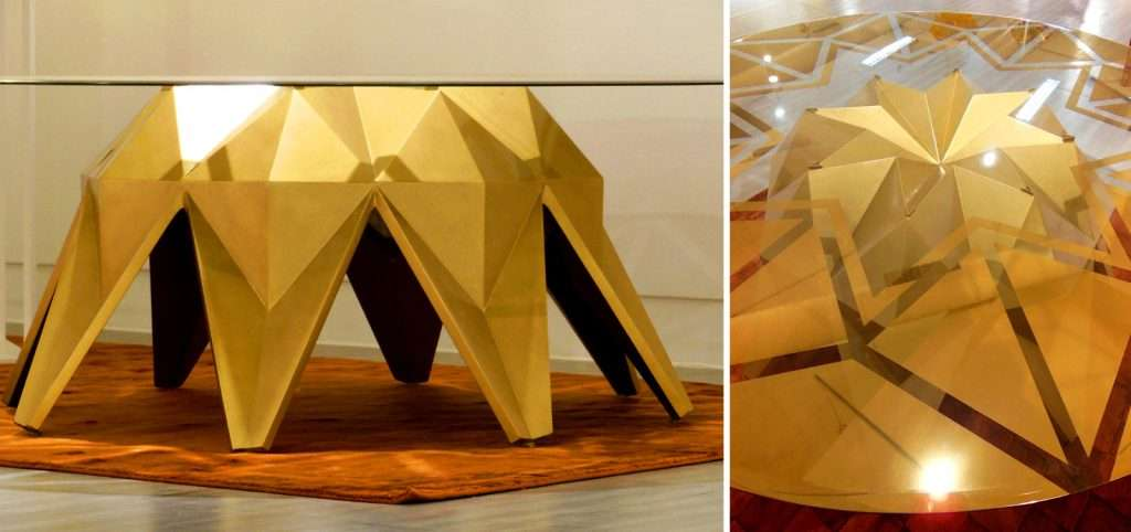 Golden Lotus Table