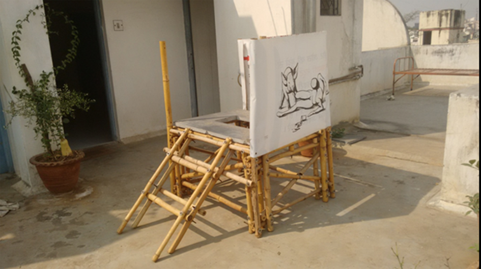 3. A prototype of a mobile toilet by Shweta and Aditi road map4