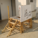 A prototype of mobile toilet by Shweta and Aditi Bhattad